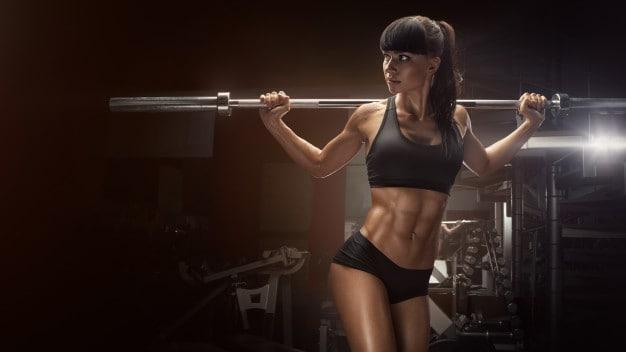 sporty sexy woman doing squat workout gym 147765 118